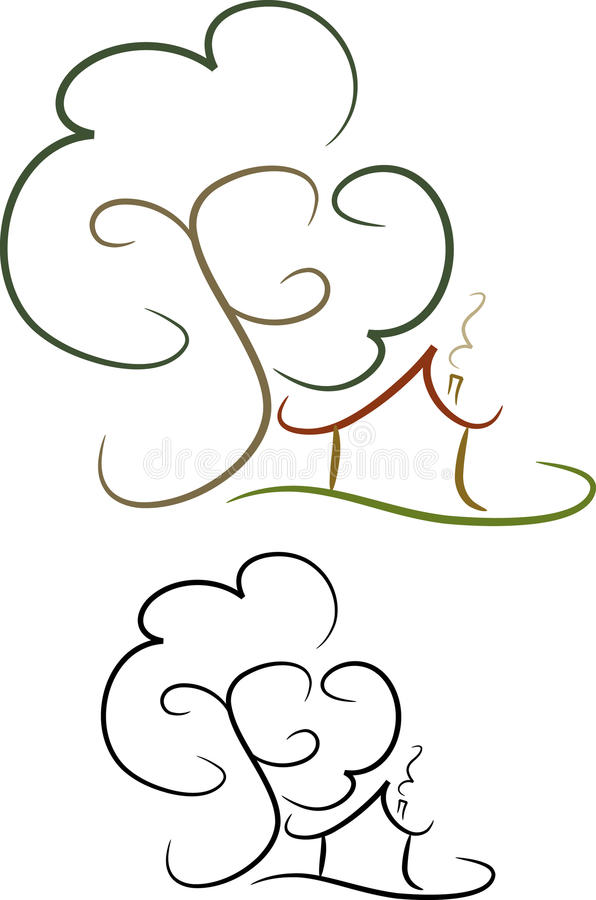 Download Simple house icon (VI) stock vector. Image of family - 10580041
