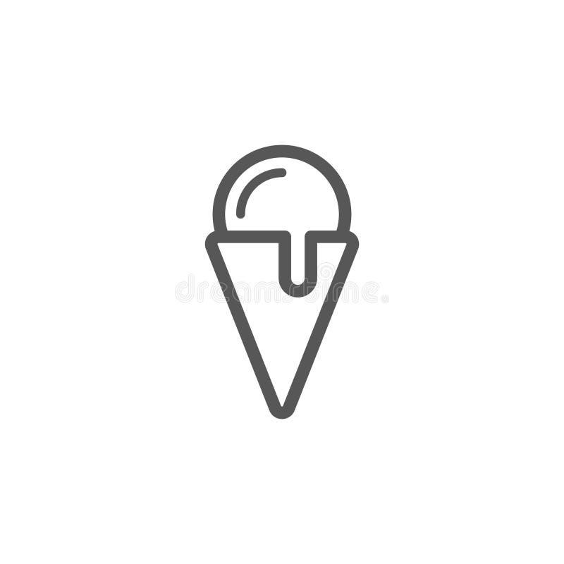 Simple icône ensemble de vecteur de crème glacée de schéma illustration de vecteur