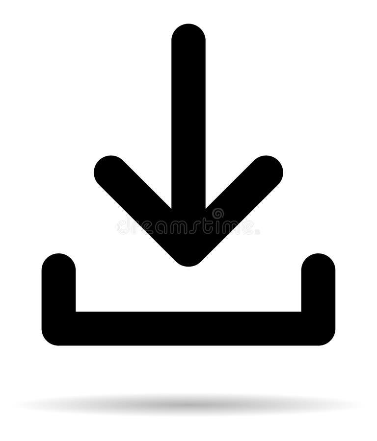 Simple icône illustration de vecteur de téléchargement de schéma illustration libre de droits