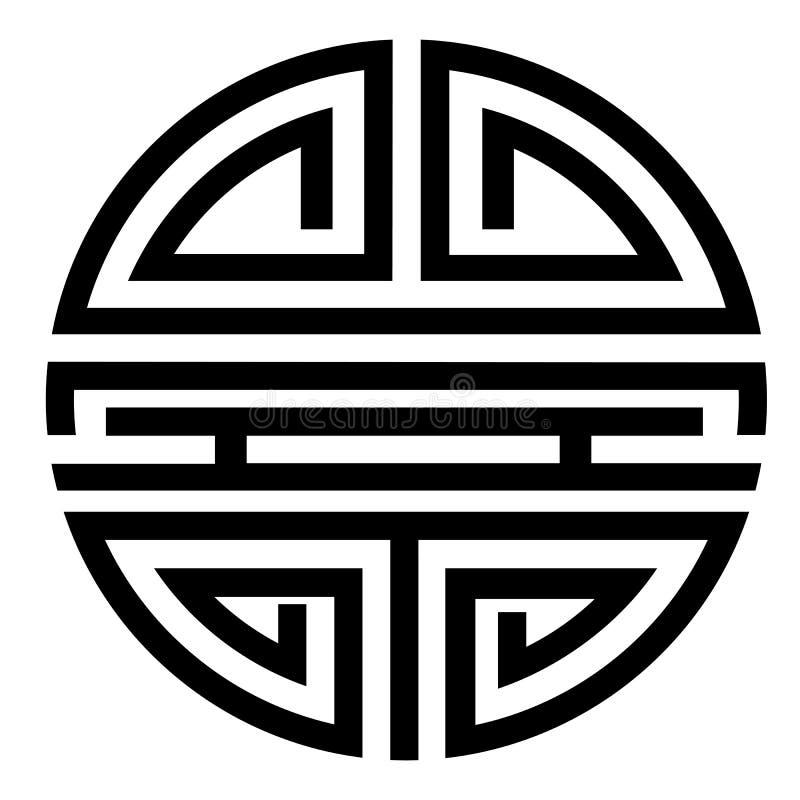 Vector simple Icon Chinese Shou / Longevity Symbol. Simple Icon Chinese Shou / Longevity Symbol vector illustration