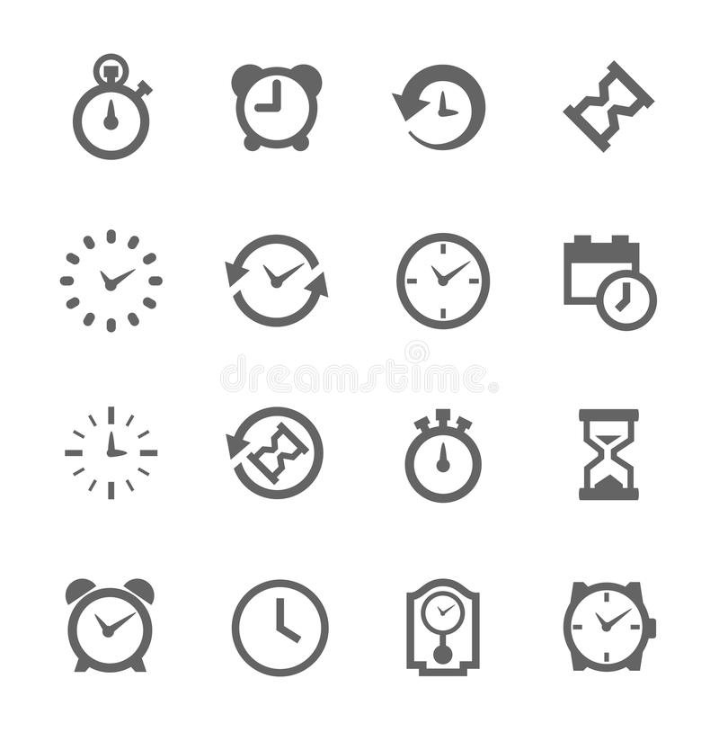 Simple Icon set related to Time vector illustration