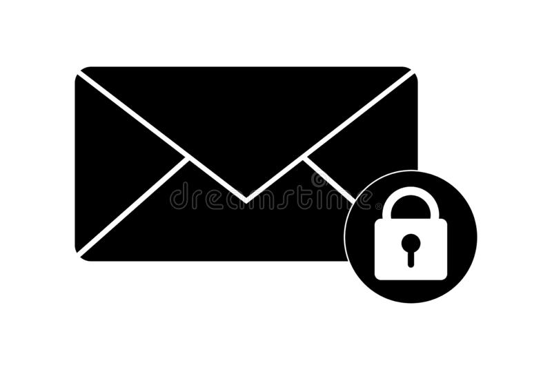 Simple icon on the topic of e-mail security vector illustration