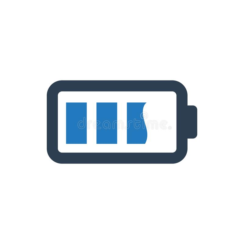 Battery Level Icon. Simple Illustration Of A Battery Level Icon stock illustration
