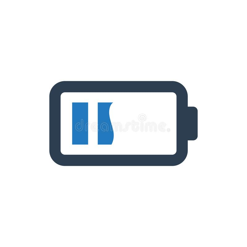 Battery Level Icon. Simple Illustration Of A Battery Level Icon vector illustration