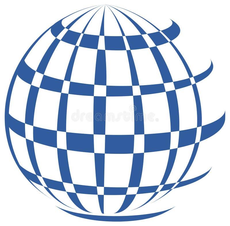Globe design company logo. Simple illustration of globe design company logo on white background. attached eps file vector illustration