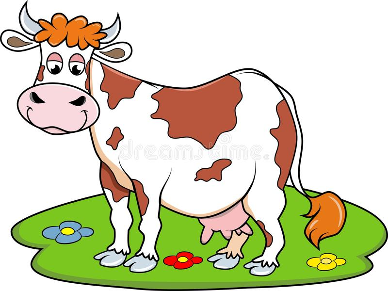 Download Happy Cow stock vector. Illustration of funny, animals - 29730599