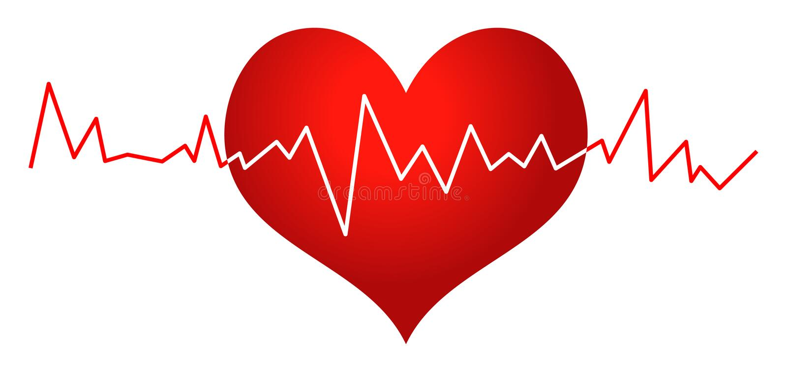 red heart and heartbeat clip art stock vector illustration of rh dreamstime com heartbeat clipart png heartbeat clipart images