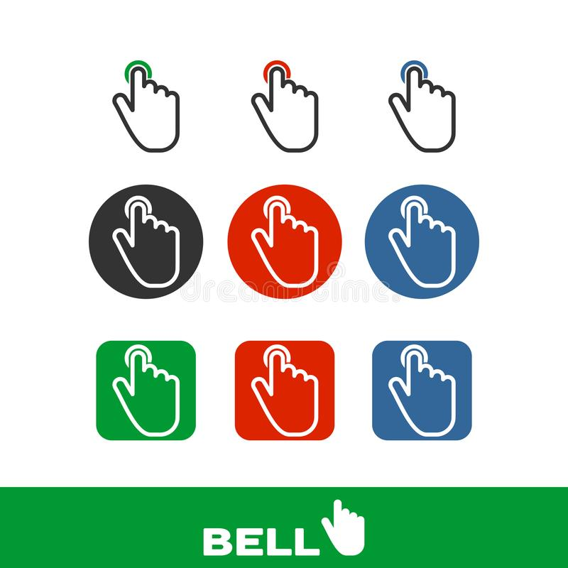 The bell is touched ring hard royalty free stock photography