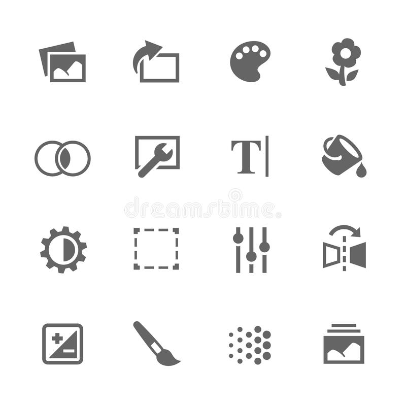 Simple Image Settings Icons vector illustration