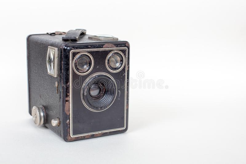 Simple and inexpensive Basic cardboard box camera royalty free stock photography