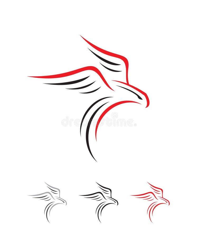 Simple inspiring eagle falcon bird shillouette logo. Falcon logo. eagle logo. shillouette logo. hawk logo flying bird logo. animal logo. Natural logo. simple stock illustration