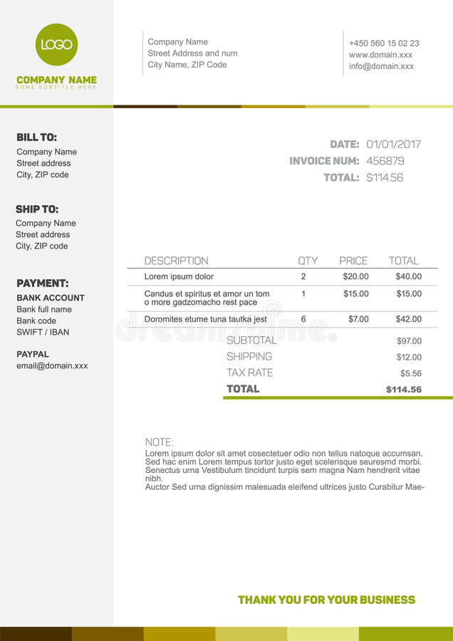 download simple invoice template