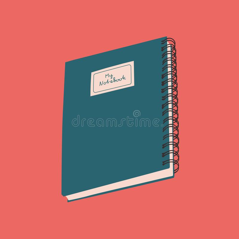 Simple Labeled Notebook Illustration Vector Isolated Element vector illustration