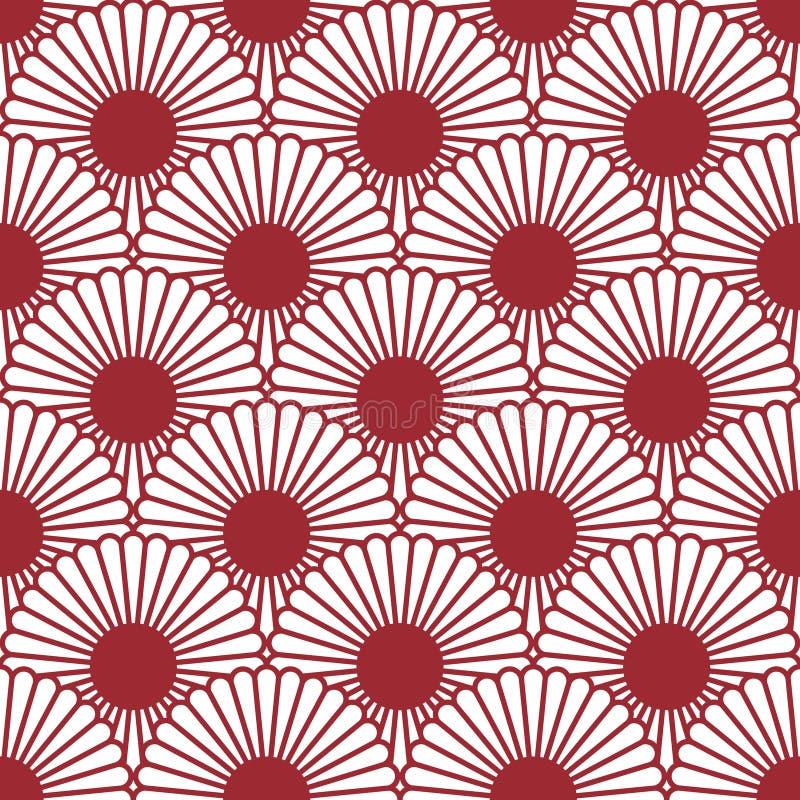 Simple Japanese Style Chrysanthemum Seamless Pattern. Traditional ...