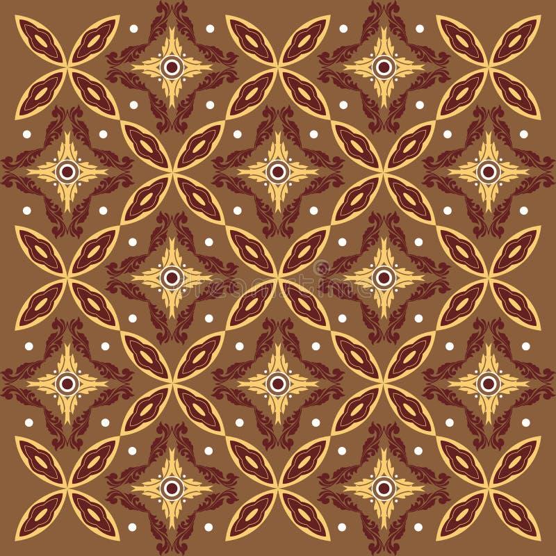 Javanese Batik Seamless Pattern Background Stock Vector