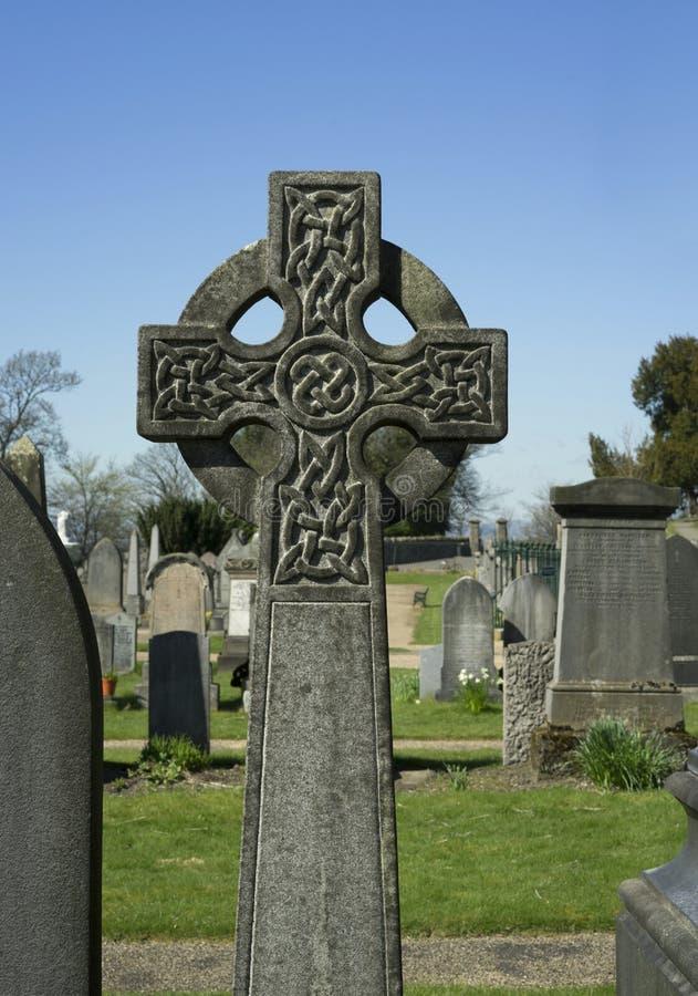 Simple Knot work Celtic cross - Scotland royalty free stock image