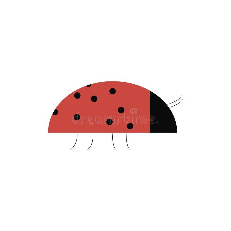 Simple ladybug seamless pattern, abstract texture;  art illustration logo design element. Good for stickers, logo, books, fa royalty free illustration