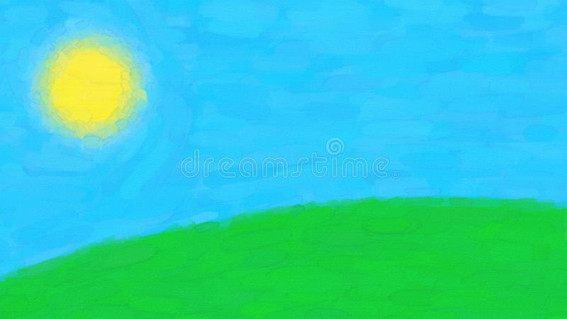 Simple Watercolor Landscape stock image