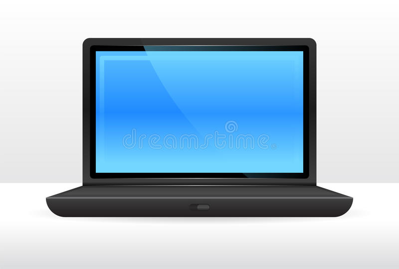 Simple laptop computer royalty free illustration
