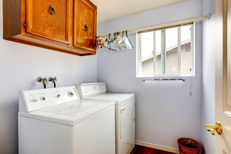 Simple Laundry Room Interior Stock Photo