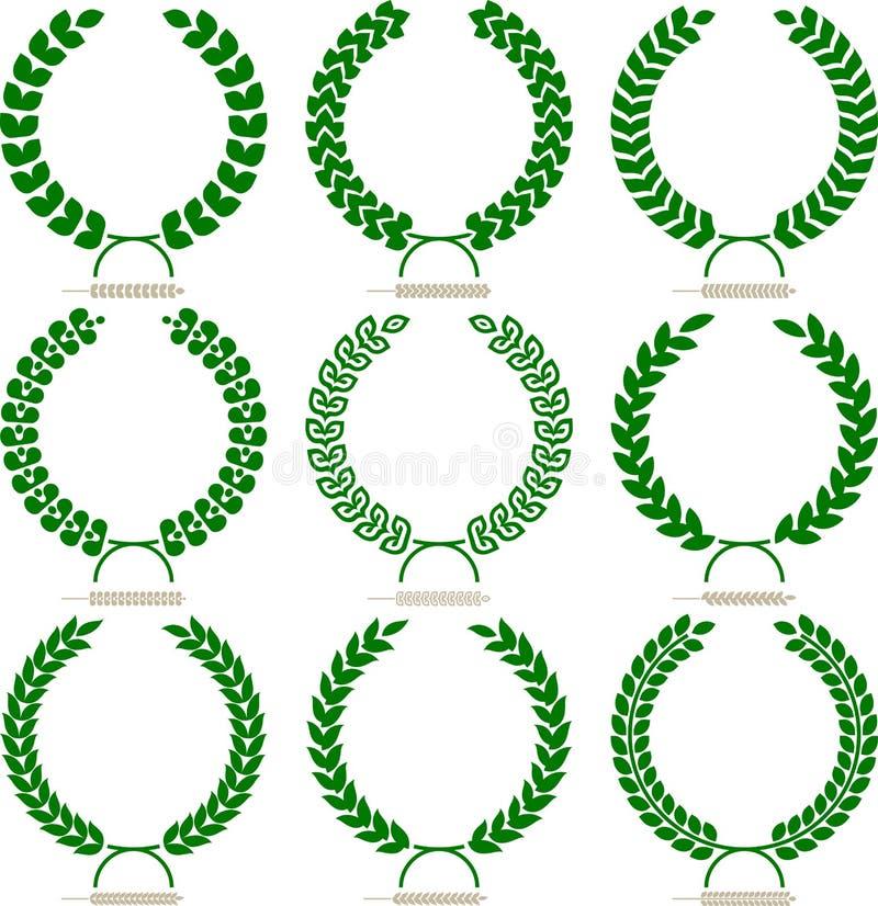 Download Simple laurel wreath set stock vector. Illustration of ornate - 28163111