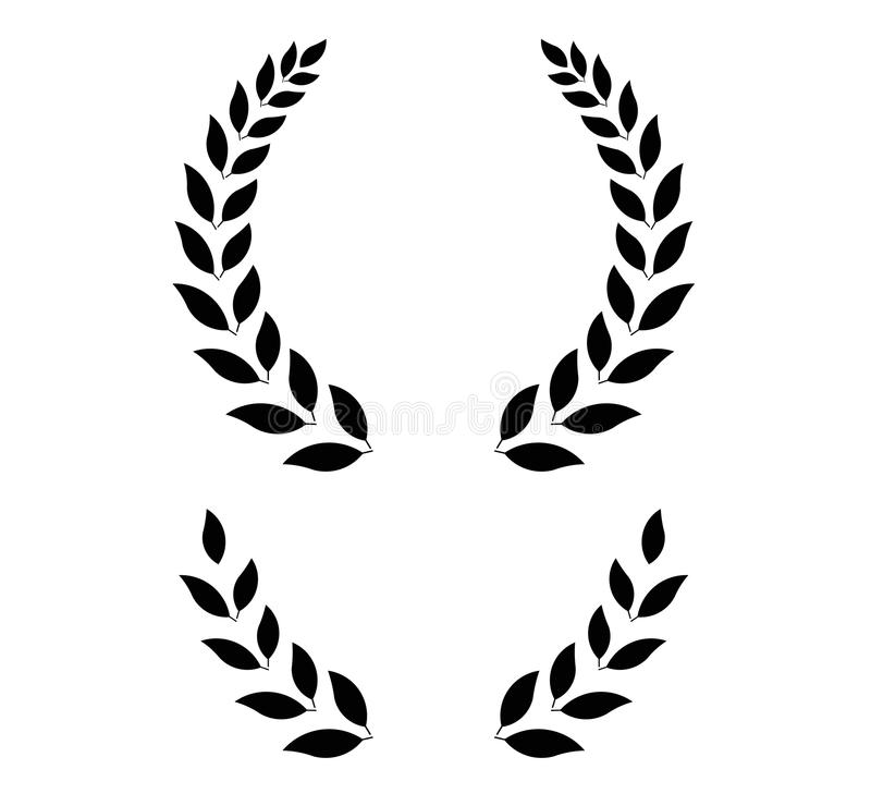 simple laurel wreath vector illustration stock vector rh dreamstime com laurel wreath vector art free laurel wreath vector illustrator