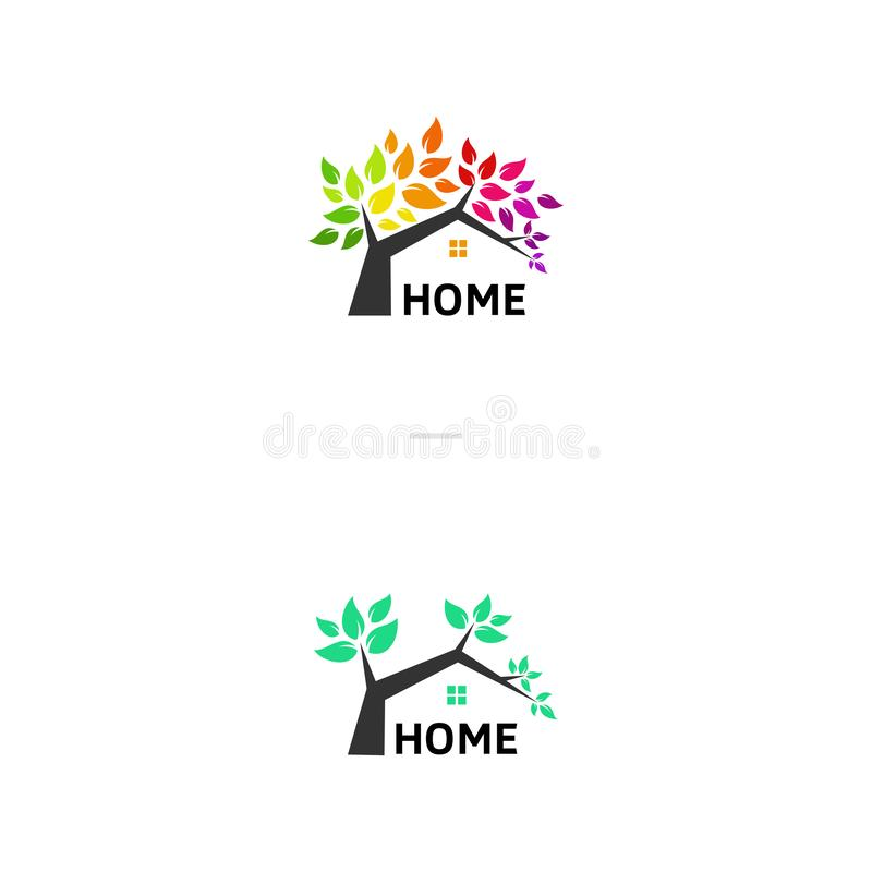 Simple leaf home for your company stock photography