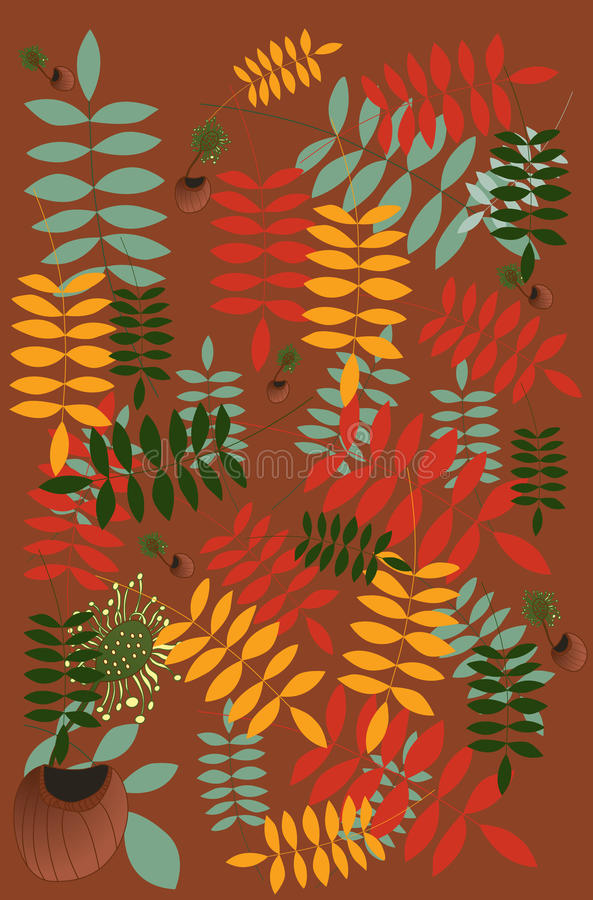Download Simple leaf pattern stock vector. Image of ornamental - 12049675