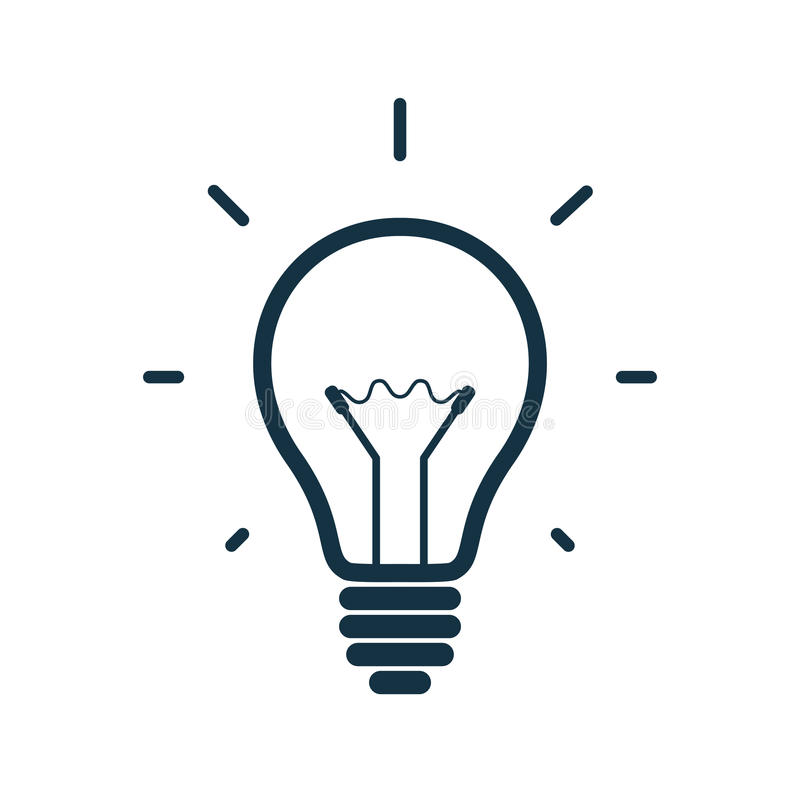 Free Simple Light Bulb Icon. Vector Illustration Royalty Free Stock Photos - 47141298