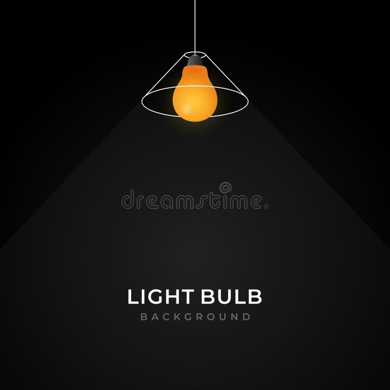 Simple line loft pendant light bulb hanging lamp illustration creative background design. Eps 10 stock illustration