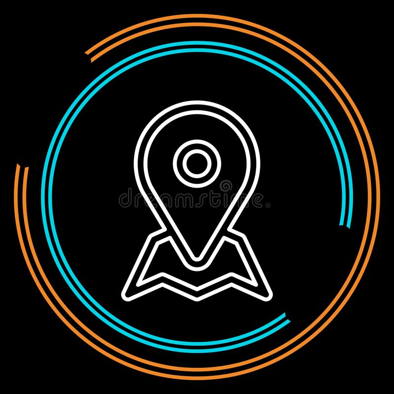 Simple location Thin Line Vector Icon royalty free illustration