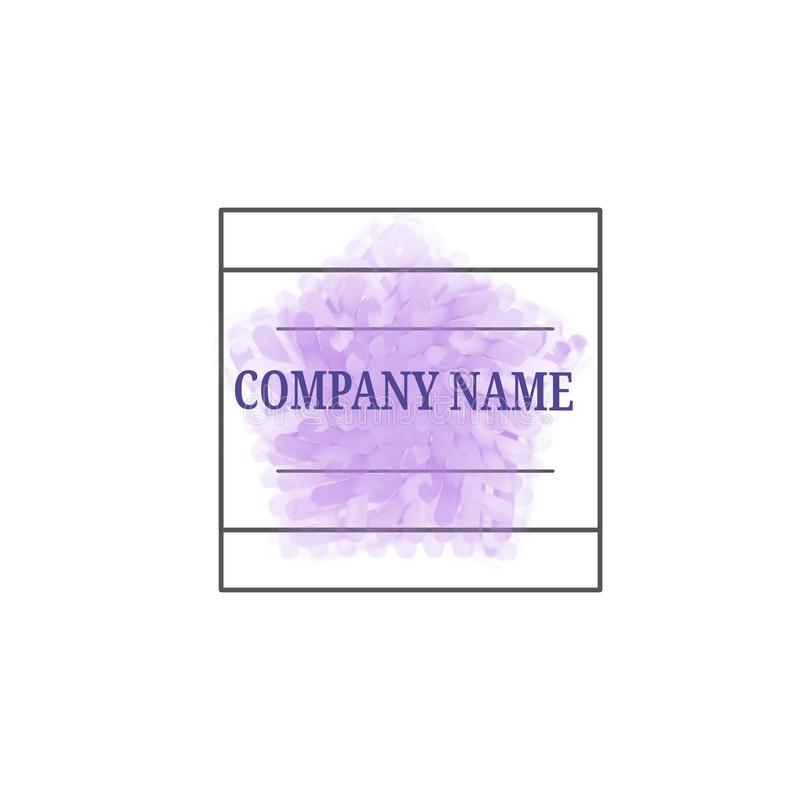 Simple logo for busines company. Simple logo busines company paper vector symbol graphic sign design note vector illustration
