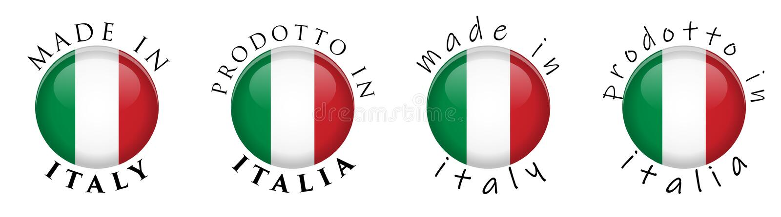Translator Italian: Symbol Of Italian Manufacture Stock Illustration