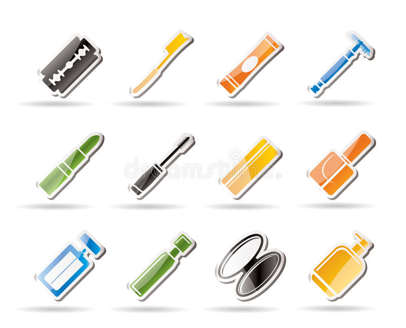 Download Simple Make-up icon set stock vector. Image of healthcare - 16085298