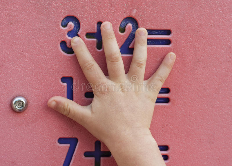 Children maths stock photography
