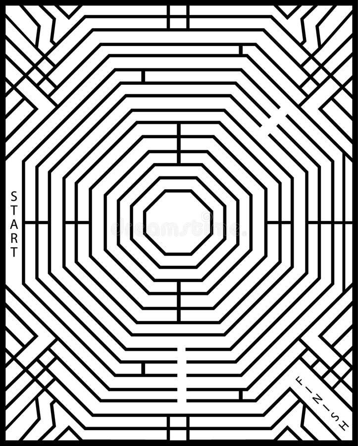 Simple maze stock illustration