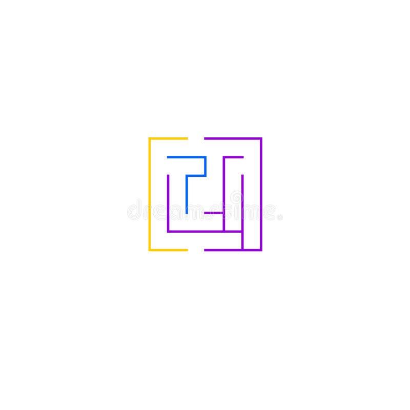 Simple maze icon royalty free illustration