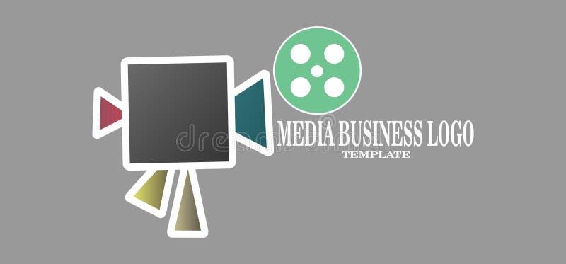 Simple Media Business Logo vector icon. illustration for camera network stock illustration