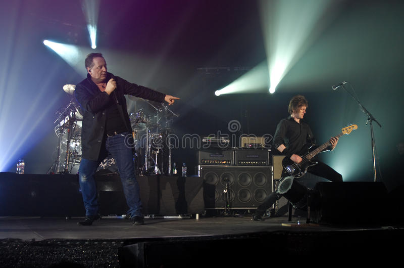 Simple Minds In Concert Editorial Stock Photo