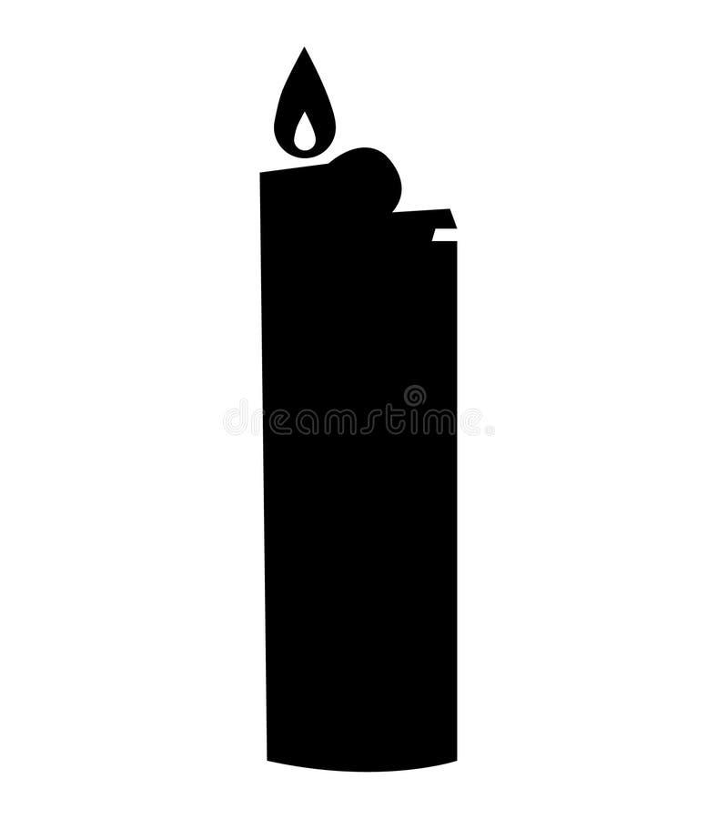 Simple, black lighter silhouette vector illustration