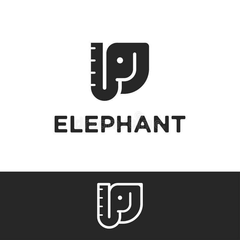 Minimalist Elephant Drawing: Elephant Stock Vector