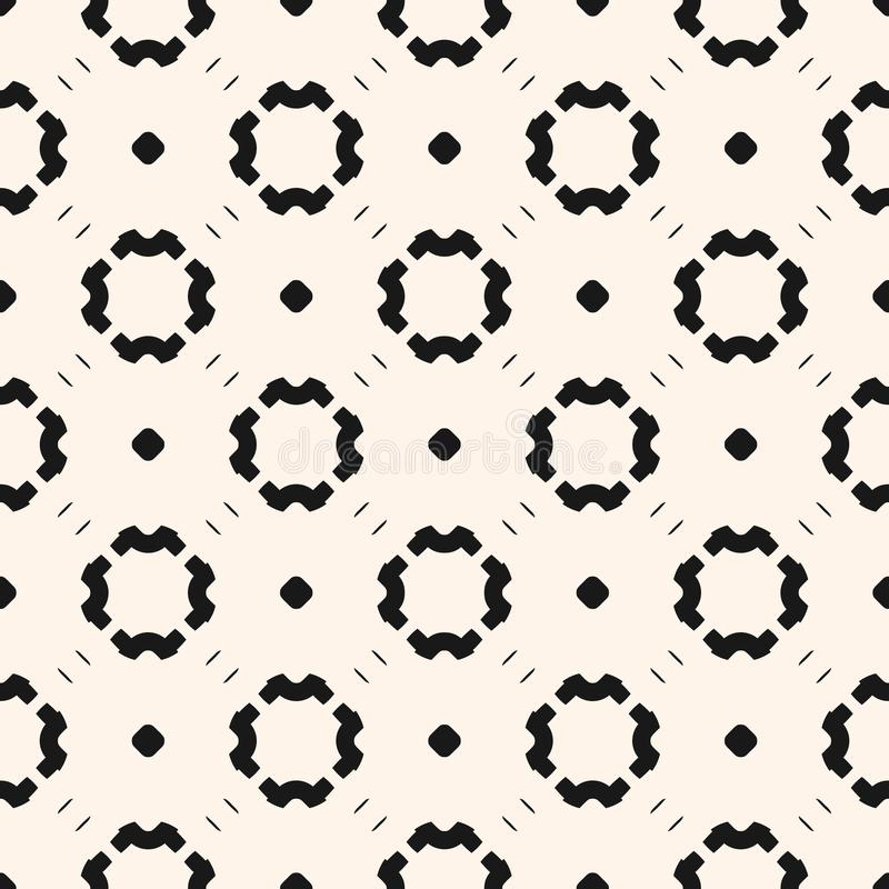 Simple minimalist monochrome pattern floral with small circle. Design for decor, wrapping, textile vector illustration