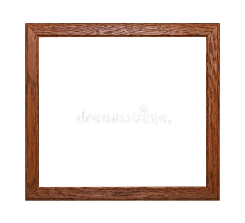 Simple wooden brown picture or photo frame royalty free stock image