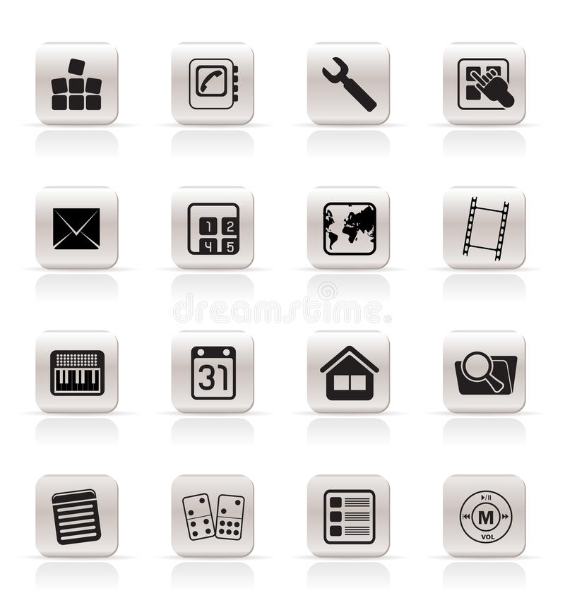 Download Simple Mobile Phone And Computer Icons Stock Vector - Image: 9729958
