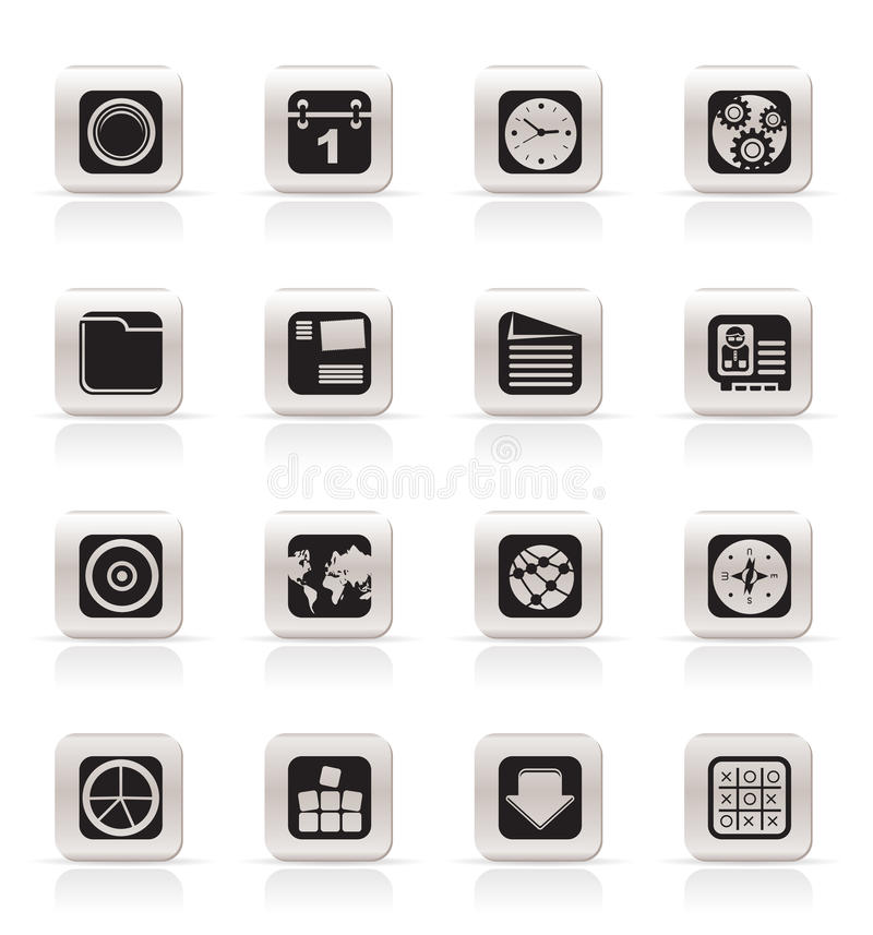 Download Simple Mobile Phone, Computer And Internet Icons Stock Vector - Image: 10564604