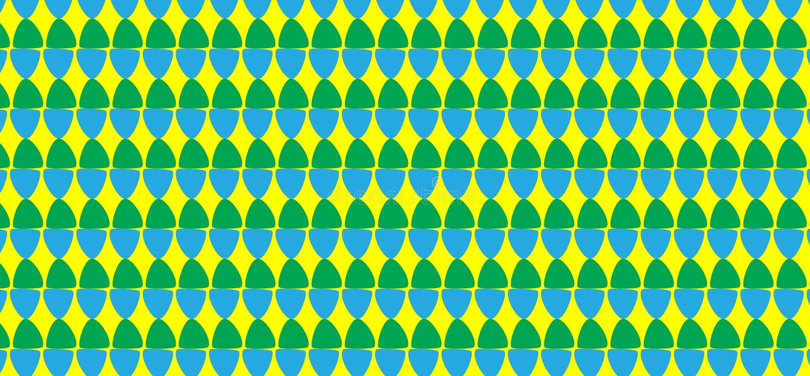 Simple Modern abstract green and blue egg pattern royalty free stock photos