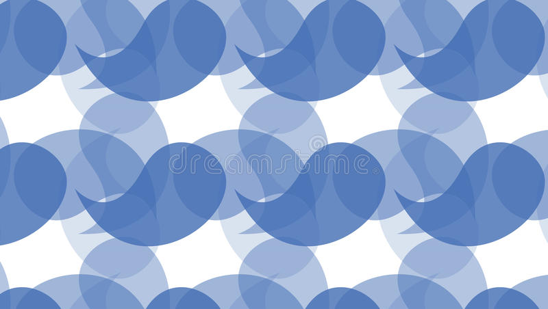 Simple Modern abstract indigo curves shapes pattern royalty free illustration