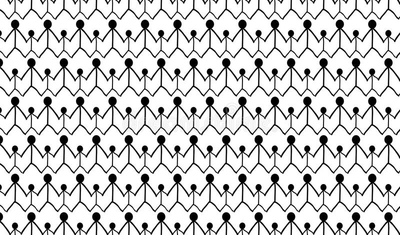 Simple Modern abstract monochrome family pattern stock photos