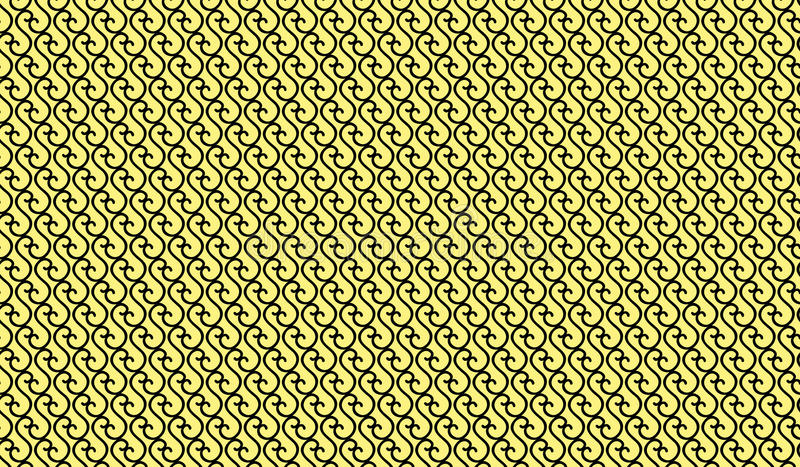 Simple Modern abstract yellow curved line mesh pattern stock photography