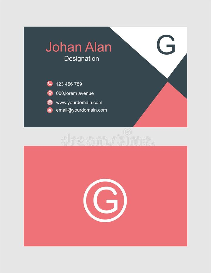 Vector abstract creative business card template vector illustration